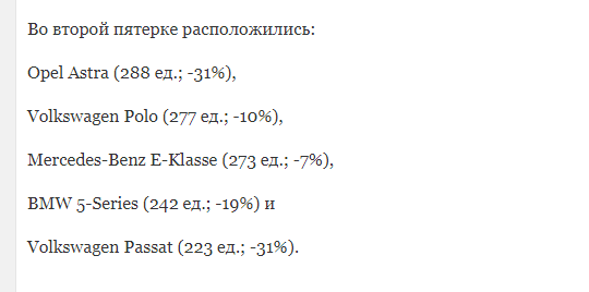 Названы самые популярные подержанные автомобили в Москве