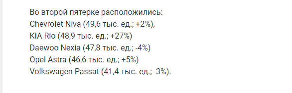Названы самые популярные иномарки с пробегом на рынке России