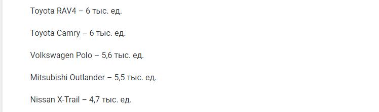 Эксперты составили рейтинг ТОП-10 самых популярных иномарок с АКП
