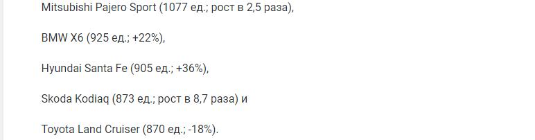 Названы самые популярные в Москве дизельные автомобили
