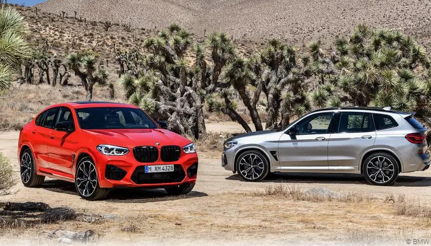 Новые BMW X3 M и BMW X4 M появились в продаже в России
