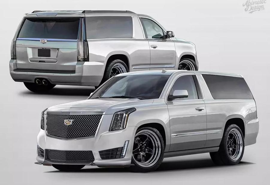 Трехдверный Cadillac Escalade показали на рендере в сети