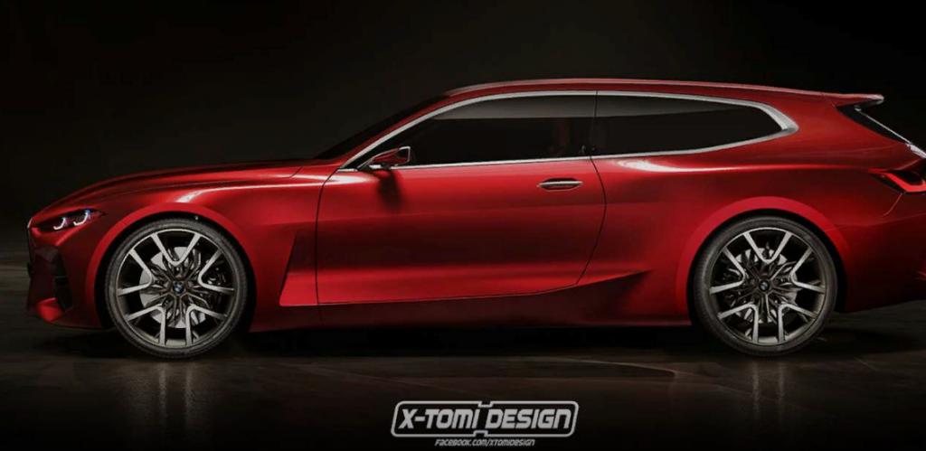 Дизайнер представил на рендере BMW Concept 4 Shooting Brake