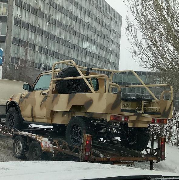 Секретный пикап LADA 4x4 засняли в Тольятти