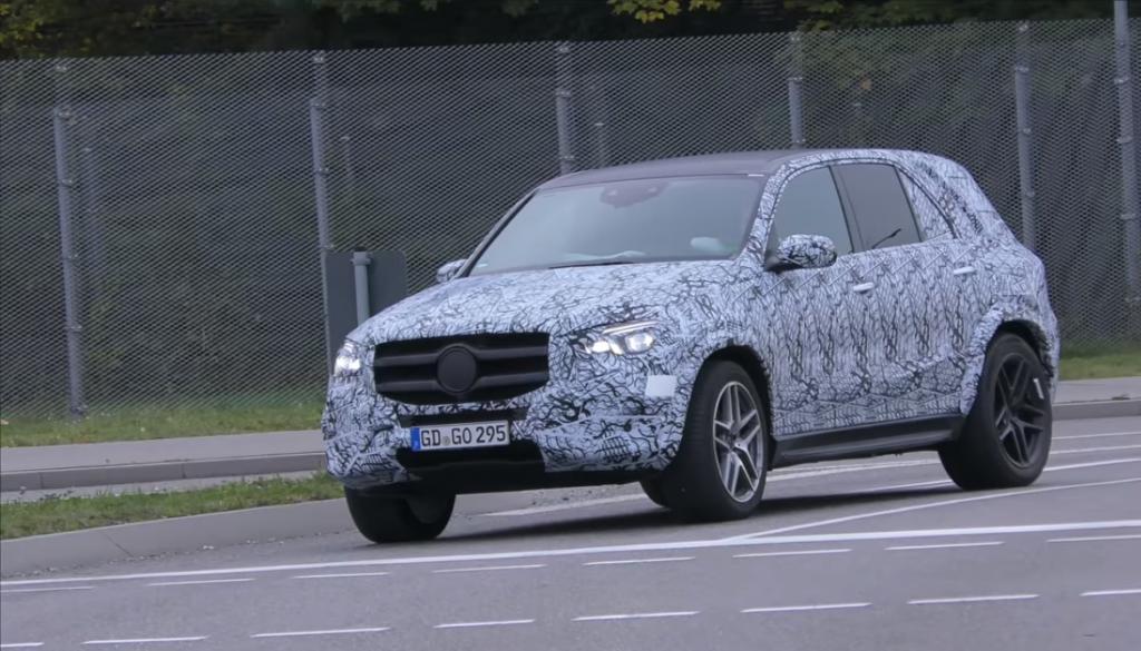 Новый Mercedes-Benz GLE заметили на дорогах общего пользования