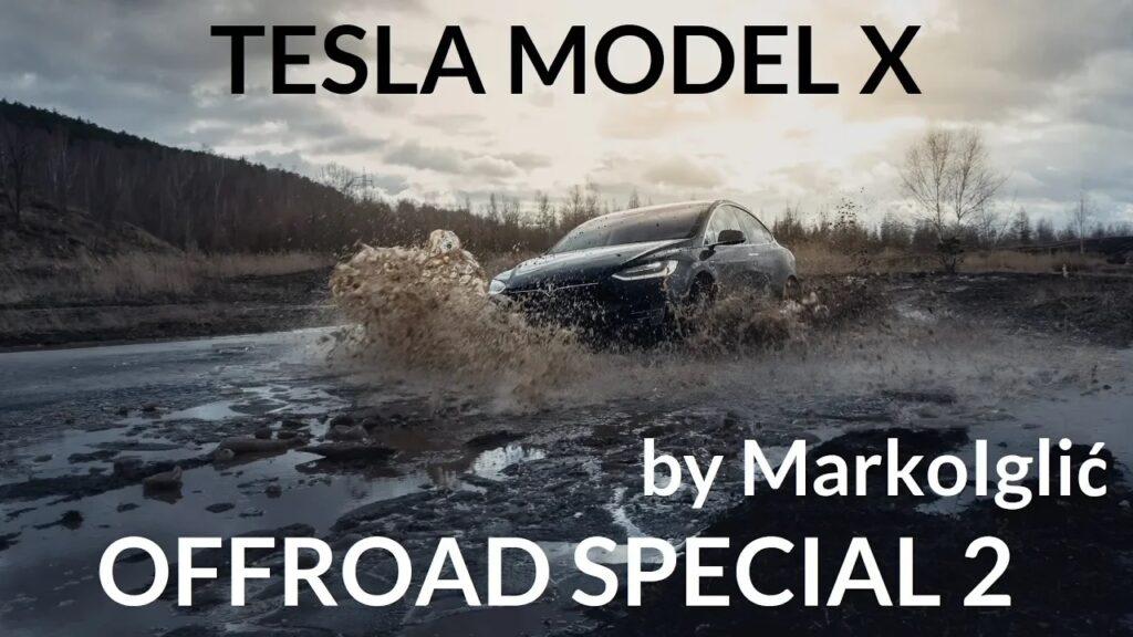 Кроссовер Tesla Model X попытались утопить в грязи