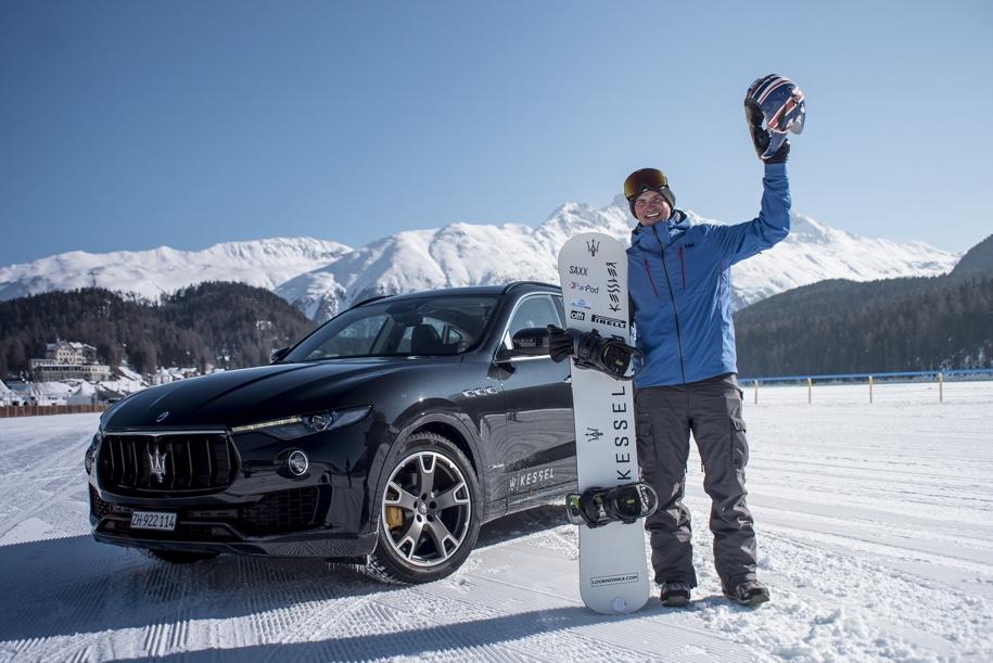 Разогнал сноубордиста до 152 километров в час Maserati Levante
