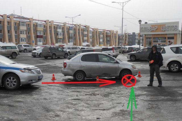 В Петропавловске у «Бульвара цветов» Toyota Platz сбила 76-летнюю старушку