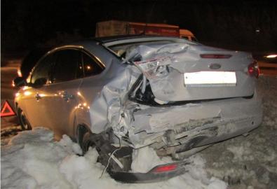 «Газель» жестко протаранила «Форд Фокус» на Студенческой в Белгороде