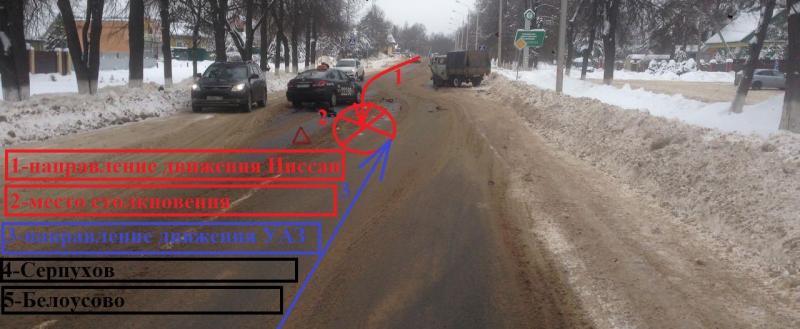 В Калуге водитель такси протаранил «УАЗик»