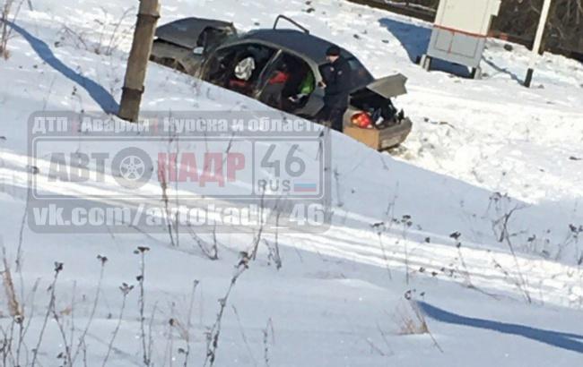 Двое ранены в жутком ДТП легковушки и поезда в Курской области