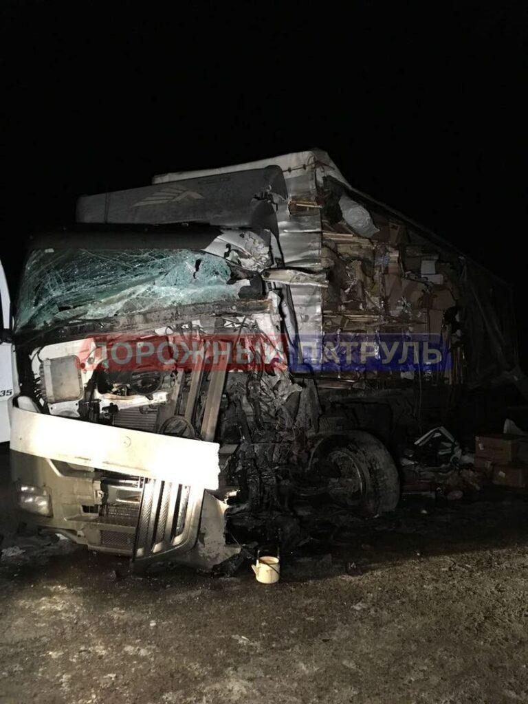 """Водитель """"КамАЗа"""" скончался в жутком ДТП в Башкирии с фурой и «ВАЗом»"""