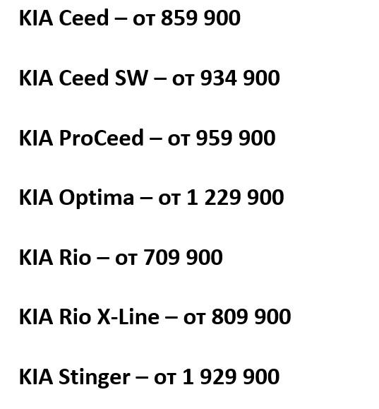 Kia в июне подняла цены на семь моделей в России