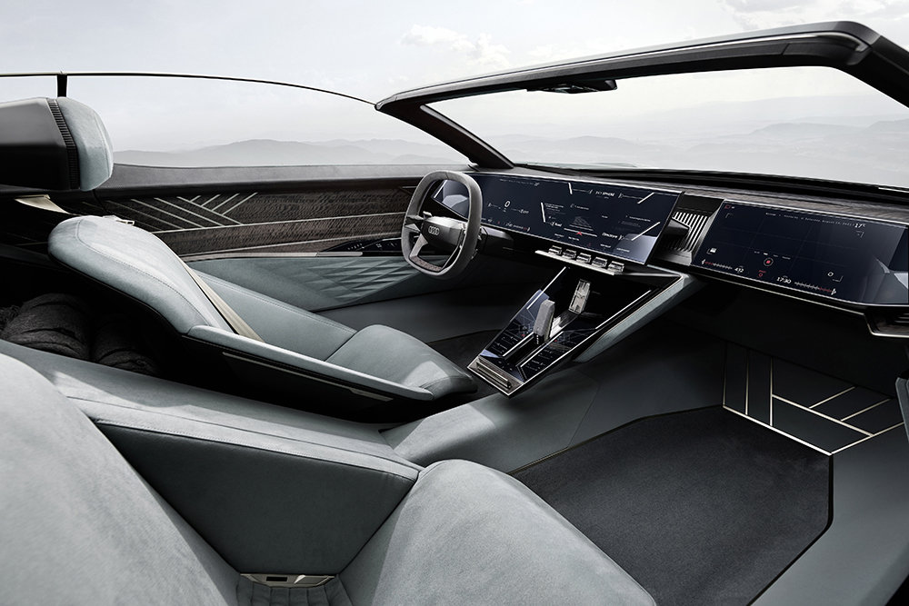 Audi показала необычный электрический концепт-кар Skysphere