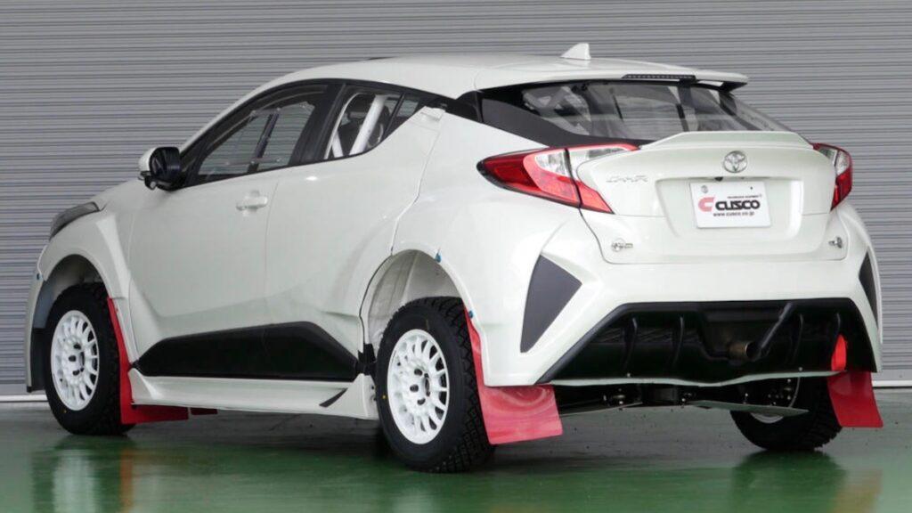 Маленький кроссовер Toyota C-HR превратился в раллийный болид