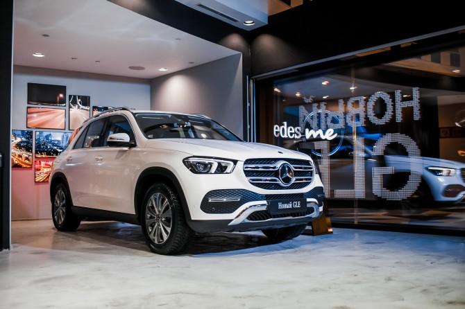Новый кроссовер Mercedes-Benz GLE показали в Москве