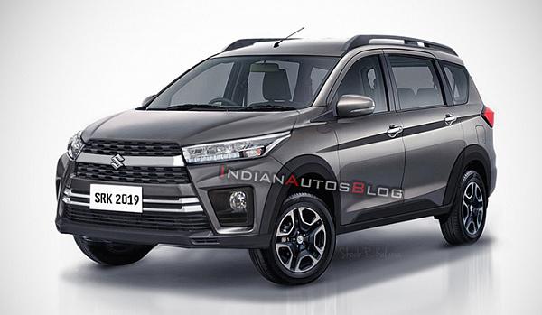 Внедорожный Suzuki Ertiga Cross представили на рендере