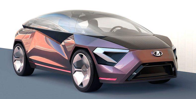 В Сети представлен концепт автомобиля LADA Triangle-X 2025