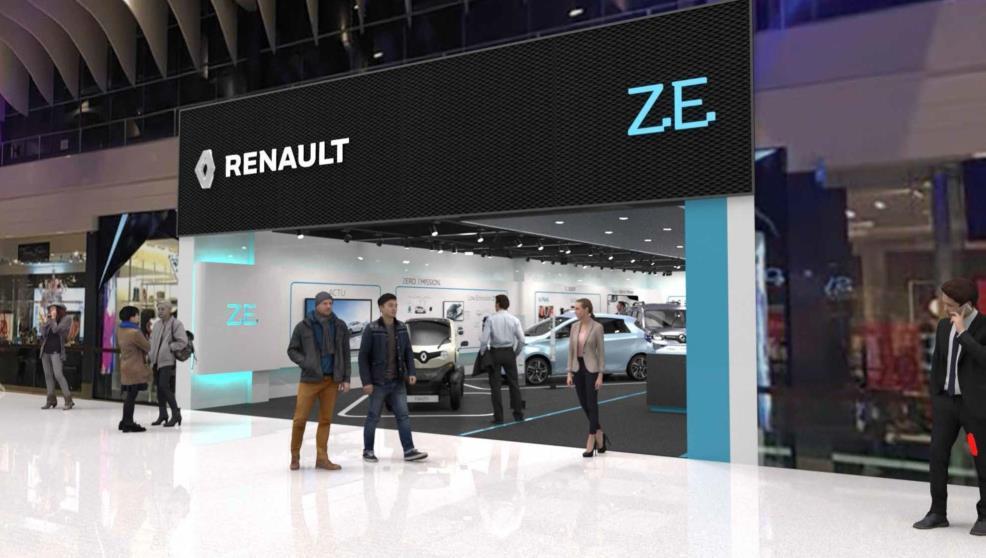 Renault открыла первый автосалон для продажи электрокаров