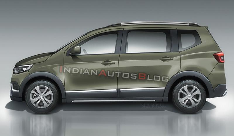 Кросс-вэн Renault Triber представили на новых изображениях