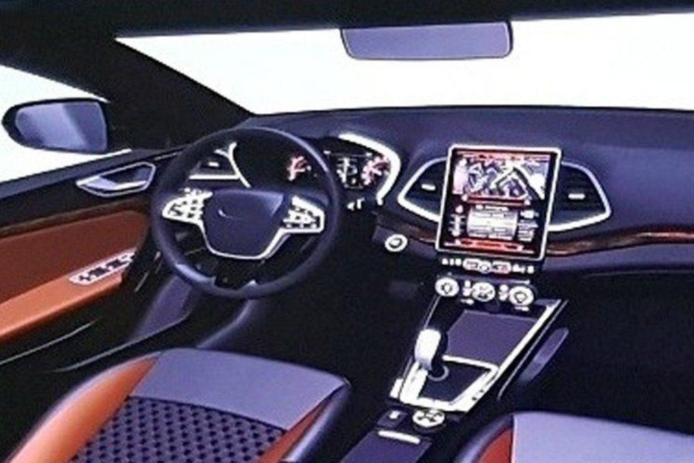 Появились изображения салона новой Lada Vesta