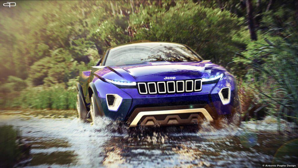 Первый рендер внедорожника Jeep Concept Freedom показали в Сети