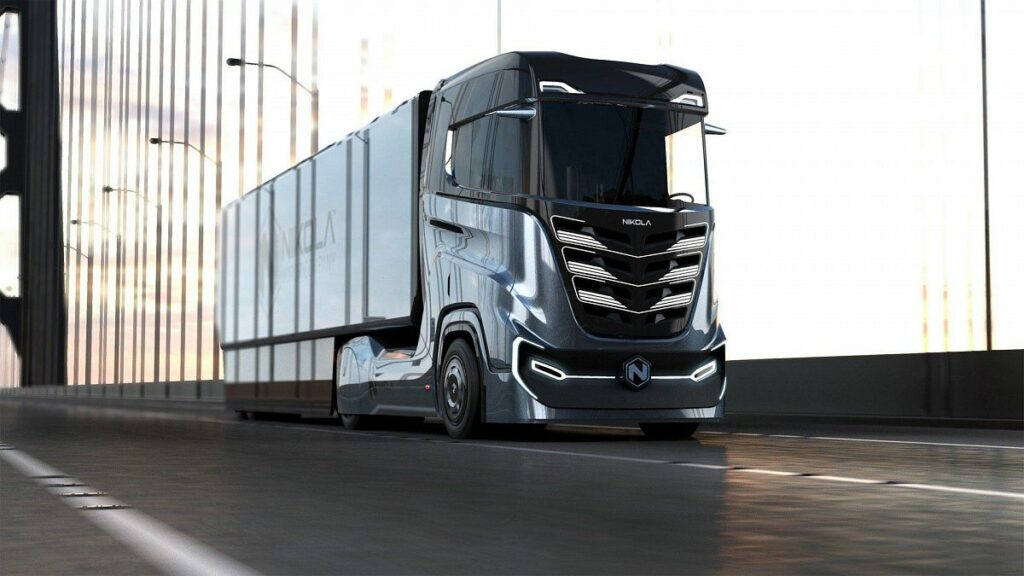 Новую модель грузовика на водородной установке представила Nikola