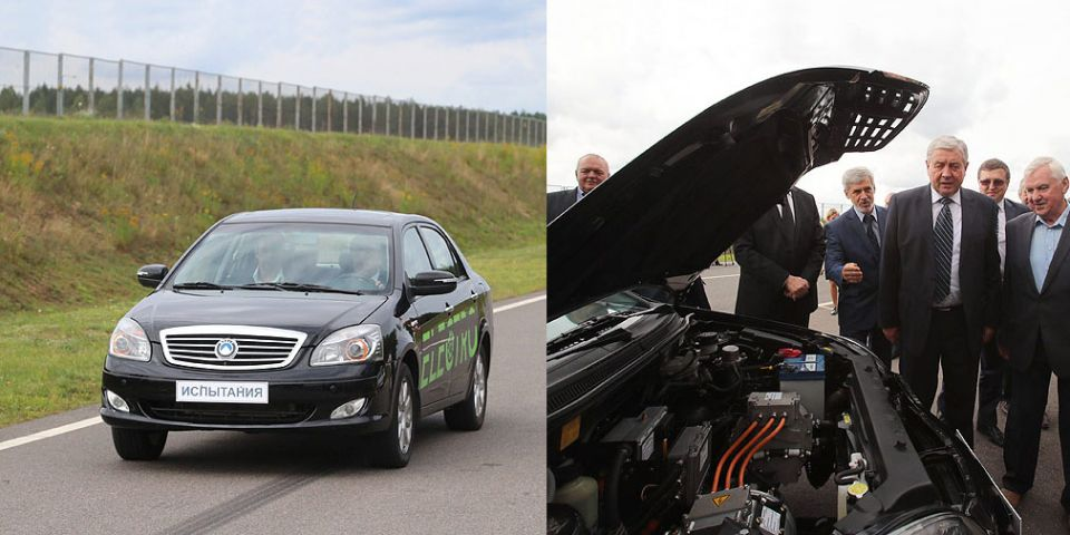 В Сети появилось видео с первым белорусским электромобилем