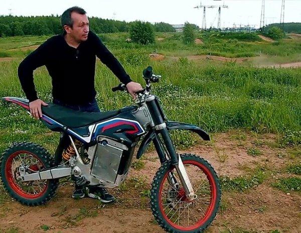 Российский изобретатель показал электрический мотоцикл