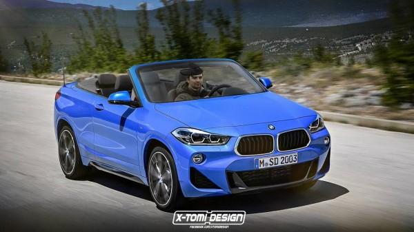 Дизайнер представил новый BMW X2 в кузове кабриолет и пикап