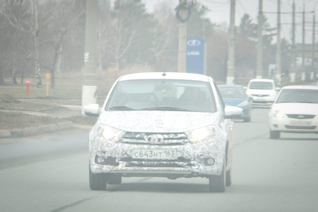 Рестайлинговая LADA Granta снова была замечена на дорогах Тольятти