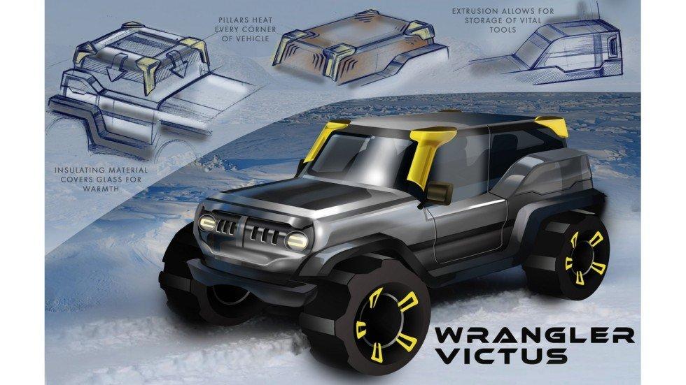 Представлен дизайн джипа Jeep Wrangler 2030 года