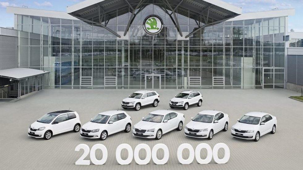 20-миллионный автомобиль выпустила Skoda в Квасинах