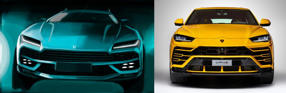 Китайская компания клонирует внедорожник Lamborghini Urus