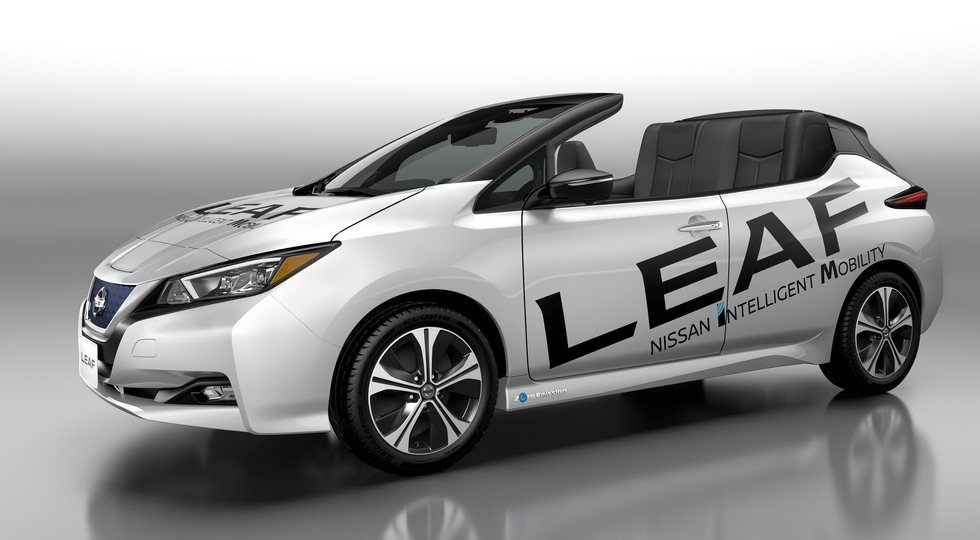 Nissan лишил крыши электромобиль Nissan Leaf