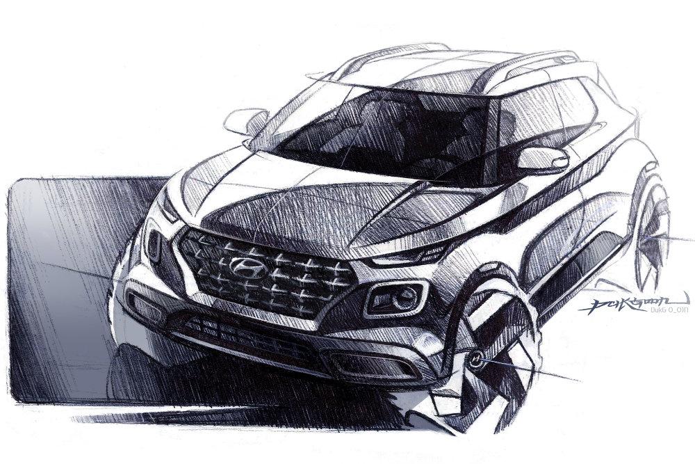 Hyundai рассекретила новый компактный кроссовер Hyundai Venue