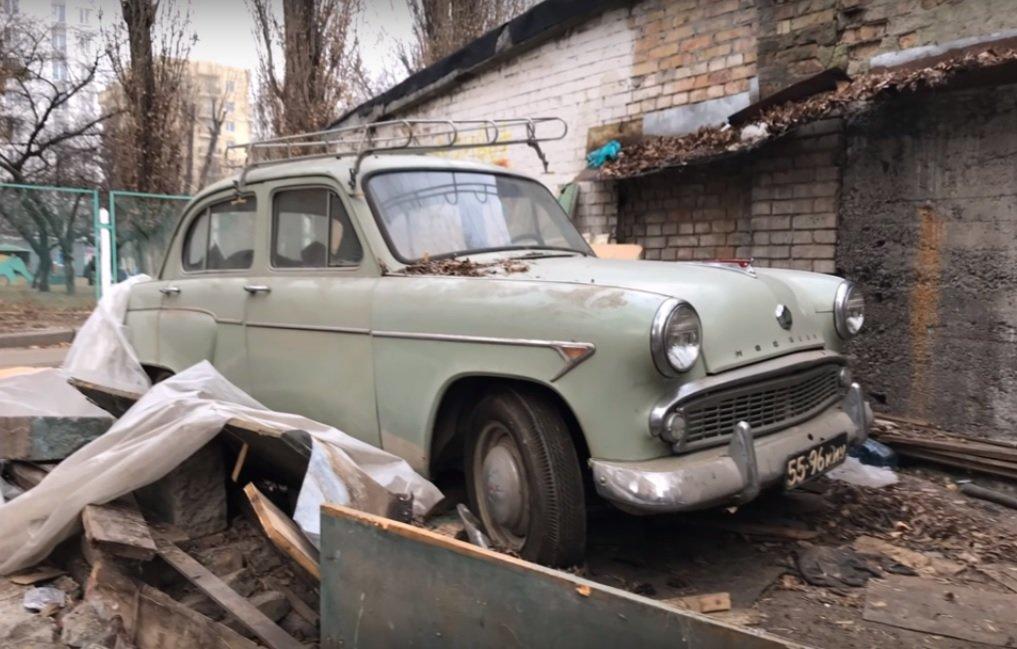 В киевском гараже найден 60-летний «Москвич-407» на ходу