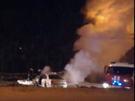 Калуга: после страшной аварии с пострадавшими загорелся автомобиль
