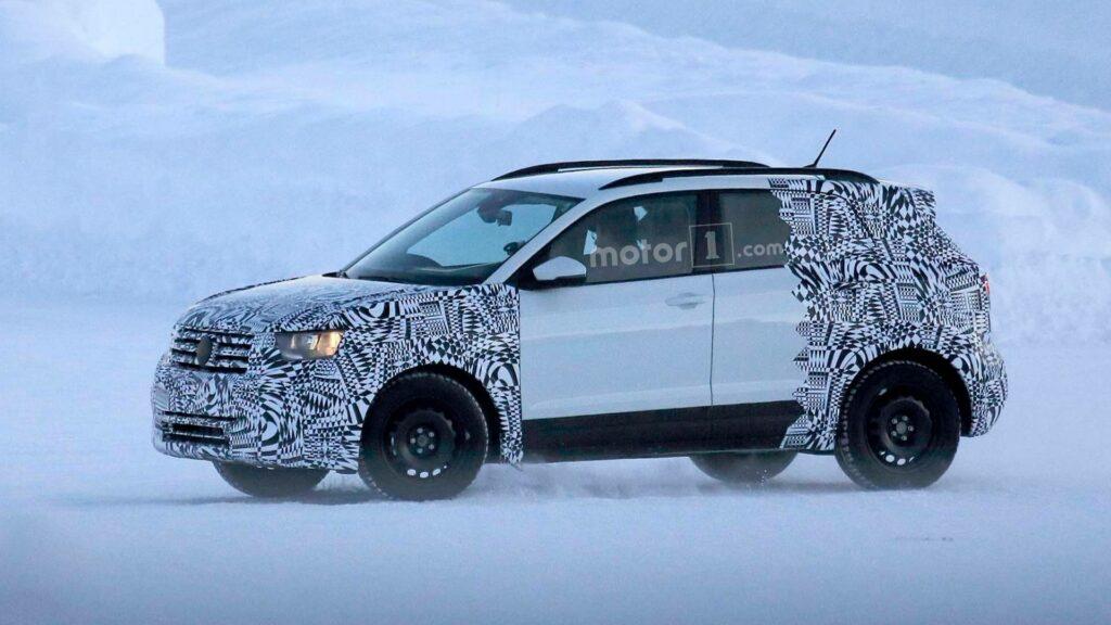 Новый кроссовер Volkswagen на базе Polo испытали в зимних условиях