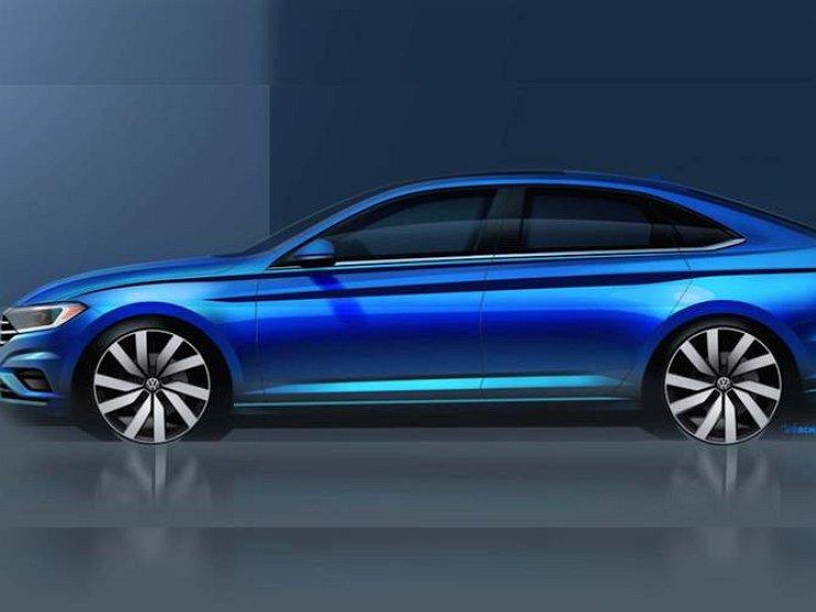 Volkswagen опубликовал первый тизер нового седана Jetta