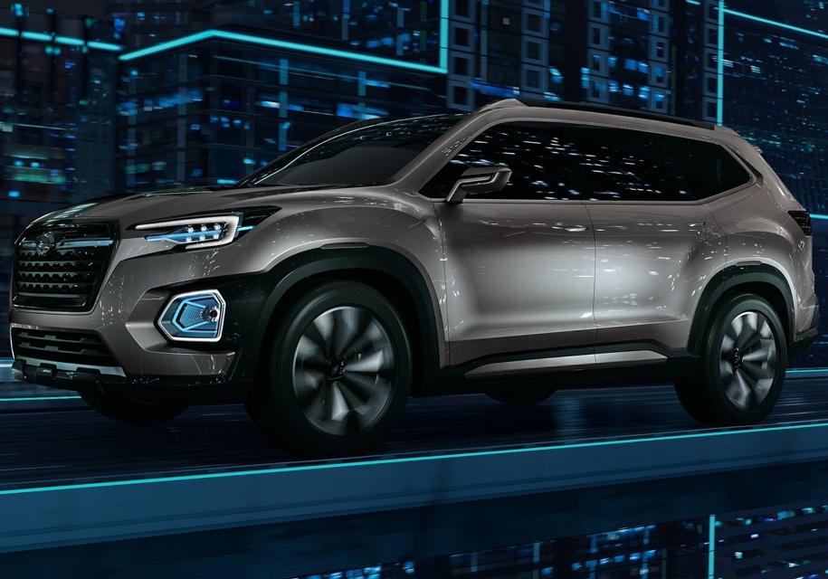 Subaru представила первый тизер серийного кроссовера Subaru Ascent