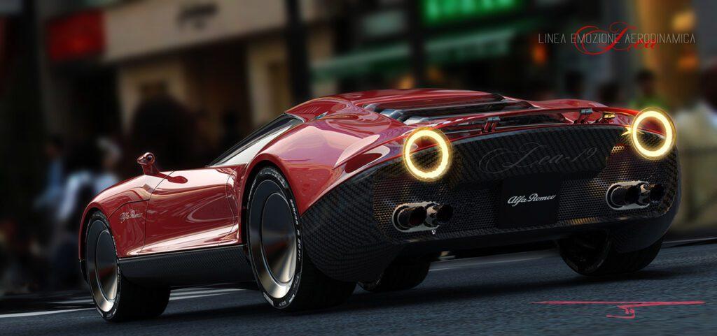 Концепт гиперкара от Alfa Romeo показали на рендерах в Сети