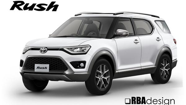 Первое изображение Toyota Rush 2018 новой генерации появилось в Сети
