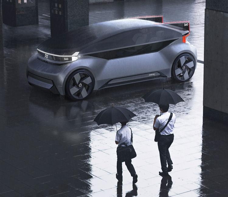 """Компания Volvo представила автомобиль """"360c"""" без руля и педалей"""
