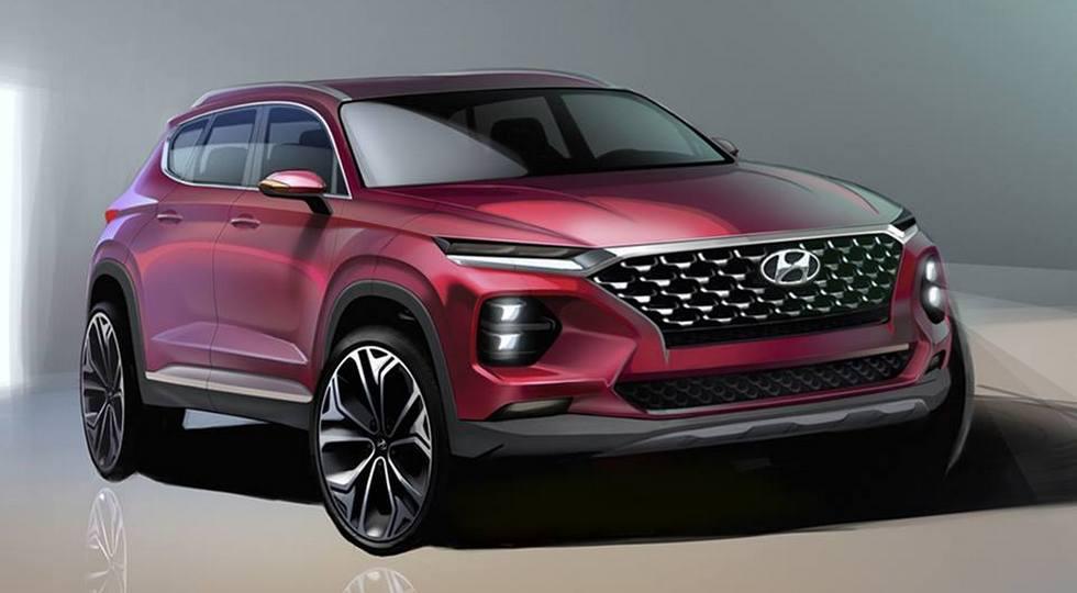 Дизайн нового поколения кроссовера Santa Fe показала Hyundai