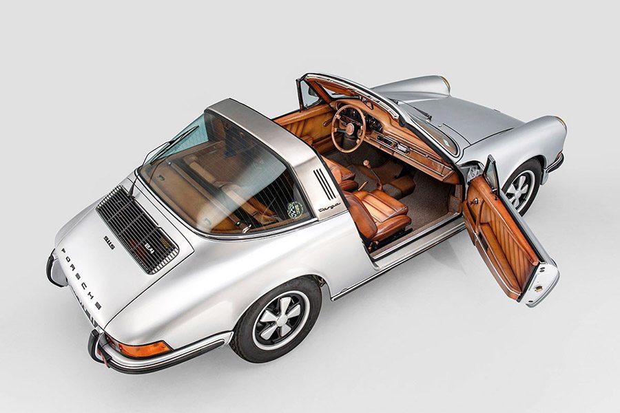 Porsche 911 Targa 1973 года с интерьером от Berluti продадут на аукционе