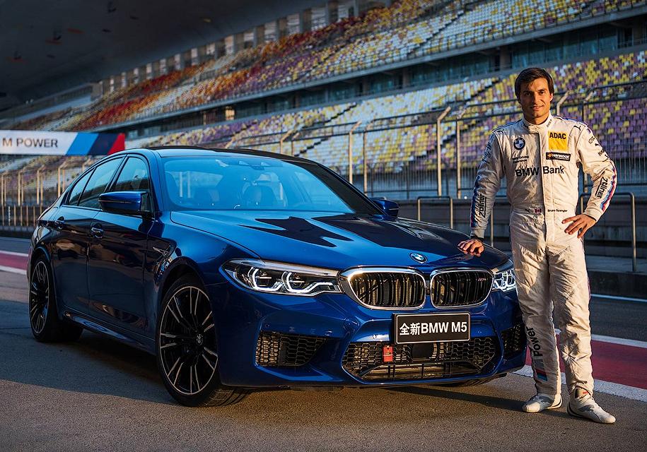 Новый BMW M5 установил рекордное время круга на автодроме в Шанхае