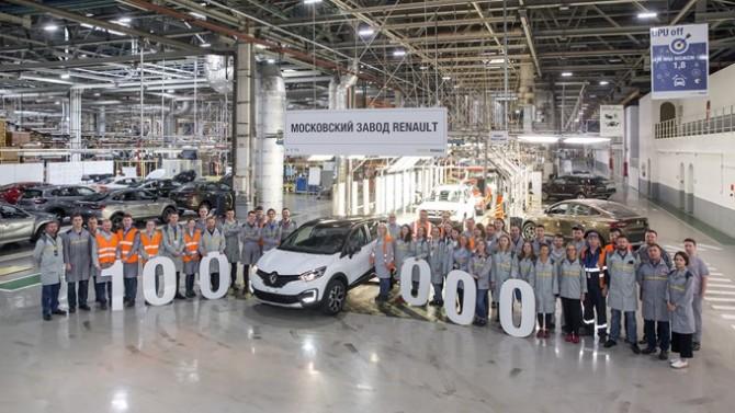 В России выпустили стотысячный кроссовер Renault Kaptur