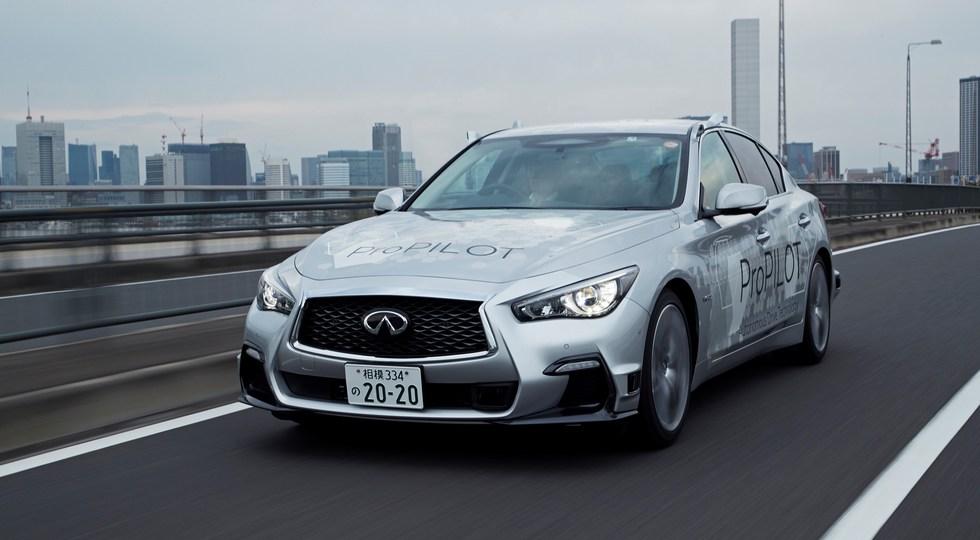 Беспилотный автомобиль Nissan протестировали на дорогах Токио