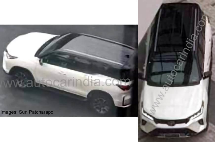 Появились фото обновленного Toyota Fortuner без камуфляжа